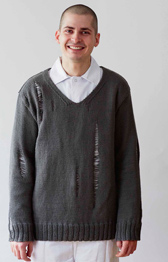 Erika Knight Hardware, mens DK sweater pattern, Download