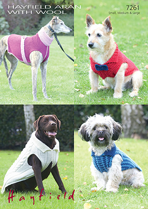 Aran dog coats Hayfield 7261 Digital Download