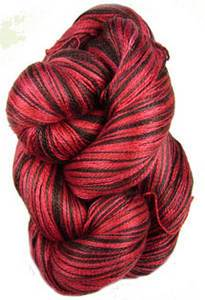 Claudia Silk Lace yarn, Chocolate Cherry