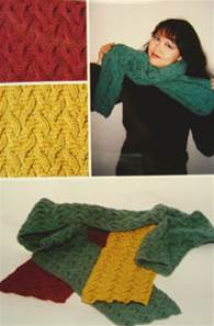 Dancing flames scarf Fiber Trends