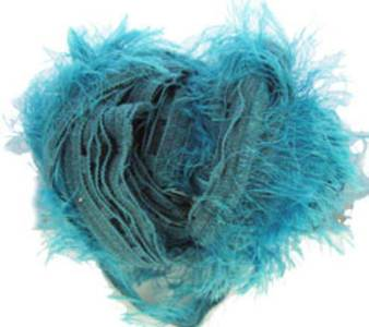 Katia Ninette 306 scarf yarn, Sea Blue
