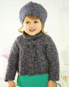 Jacket and beret Sirdar 1408