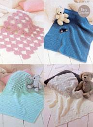 4 ply crochet baby blankets Sirdar 1422 Digital Download