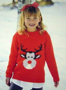 DK reindeer Sweater Sirdar 2373 Digital Download