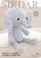 Crochet elephant toy Sirdar 2472 Digital Version