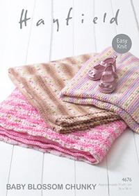 Chunky blankets Hayfield 4676 Digital Version