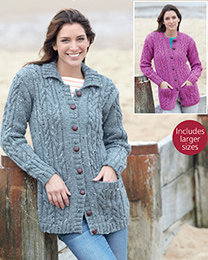 Aran Cardigans Hayfield 7895 Digital Download