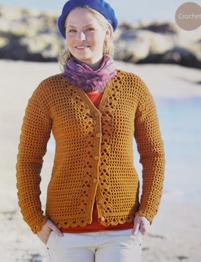 Sirdar 9805 crochet v neck cardigan