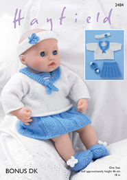 Hayfield 2484 DK dolls clothes, Digital Download