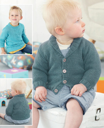DK cabled sweater and cardigan Sirdar 4890 Digital Download