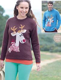 DK Rudolf sweaters Sirdar 7118 Digital Download
