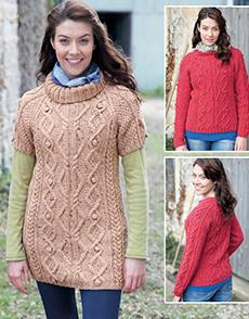 Sweater and tunic Hayfield 7138