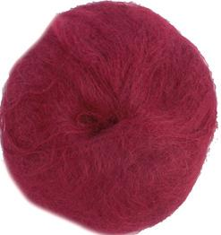Unbranded finer weight mohair Brick Red