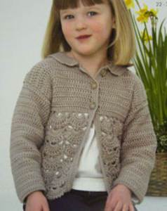 Crochet cardigan King Cole 3033