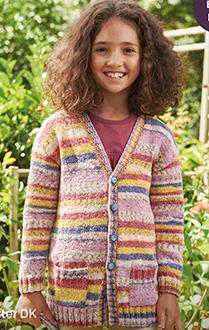 Sirdar 2492 Download Dk Knitting Pattern Girls Cardigan