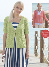 Aran cardigans Sirdar 7753 Digital Download