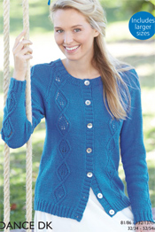 Hayfield Sundance pattern 8142 DK cardigan PDF Download