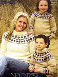 Chunky family sweaters Wendy 5625 digital version