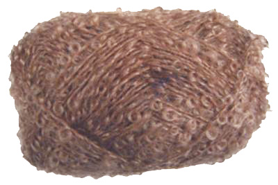 Unbranded Boucle in soft brown, approx DK