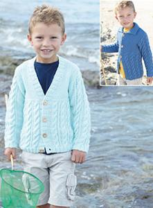 Aran cardigan Sirdar 2406 Digital Download