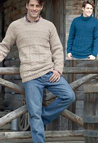 Aran sweaters Hayfield 7251, Digital Download