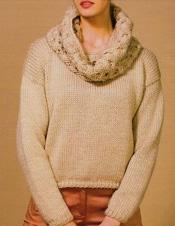 Chunky womans sweater Katia Peru 21, digital version