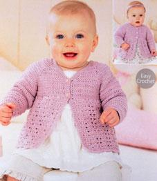 4 ply baby cardigan Sirdar 1420 Digital Download