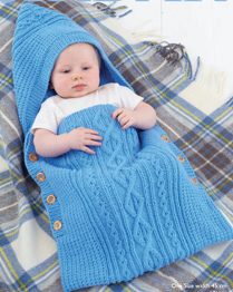 Aran baby's sleeping bag Sirdar 4901 Digital Download