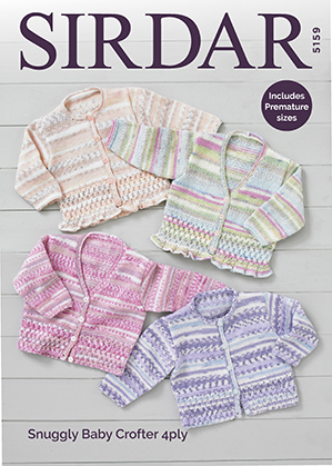 Sirdar 5159 download 4 ply baby cardigan