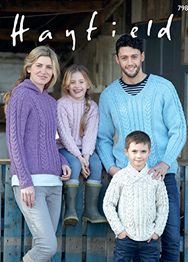 Aran family sweaters Hayfield 7989 Digital Download