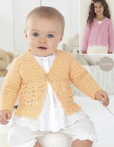 Crochet 4 ply cardigan 4437