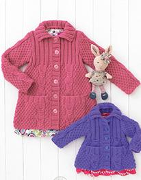 Chunky girls cardigans Hayfield 4534, Digital Version