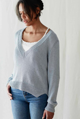 Erika Knight Porcelain, DK sweater pattern, PDF download