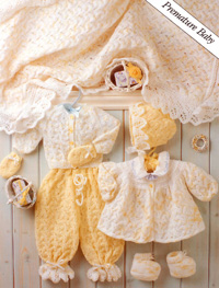 4ply outfit for premature baby Peter Pan 759 Digital Download