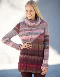Aran womans sweater Azteca 2 digital version