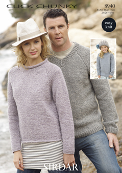 Chunky family sweaters Sirdar 8940 Digital Download