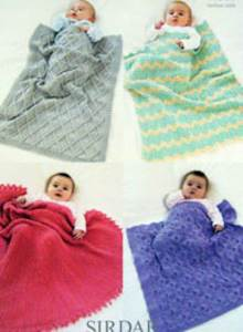 4 ply baby blankets Sirdar 1369 Digital Download