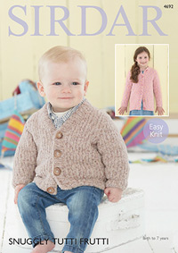 Boy's or girl's cardigans Sirdar 4692 Digital Version