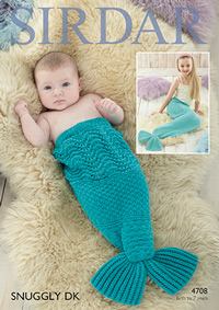 DK mermaid tail Sirdar 4708 Digital Version