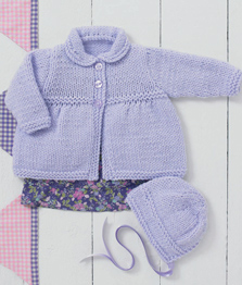 Chunky baby coat and bonnet Sirdar 4897 Digital Download