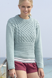 Aran sweater Sirdar 7750 Digital Download