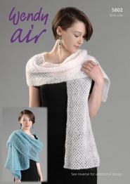 Mohair wrap, stole and shawl Wendy 5802 digital download
