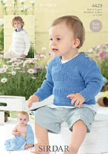 Sweaters and blanket Sirdar 4429