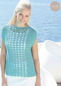 Crochet top Sirdar 7240, Digital Download