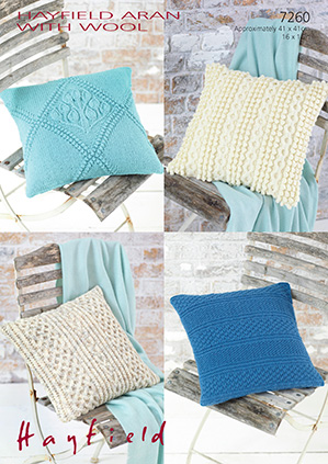Aran cushion covers Sirdar 7260 Digital Download