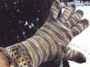 Lace Cuffs Crochet for gloves by Lornas Laces