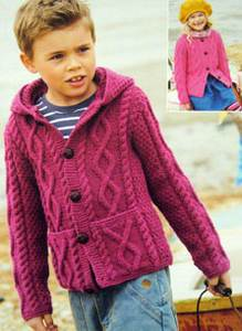 3c6658d66 Sirdar 2334 childrens aran knitting pattern cable jacket