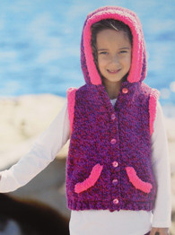 Girls gilet, Sirdar 2400