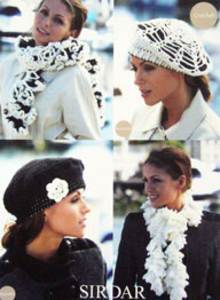 Crochet Scarves and hats Sirdar 9507