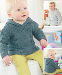 DK cabled sweater and jacket Sirdar 4891 Digital Download